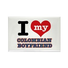 I love my Colombian Boyfriend Rectangle Magnet (10