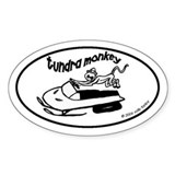 Tundra Monkey Snowmobile Bumper Stickers