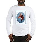 Red Doberman Pinscher Long Sleeve T-Shirt