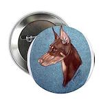 Red Doberman Pinscher Button