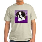 St. Bernard head study Ash Grey T-Shirt