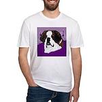St. Bernard head study Fitted T-Shirt