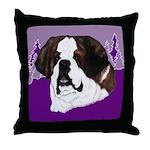 St. Bernard head study Throw Pillow