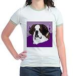 St. Bernard head study Jr. Ringer T-Shirt