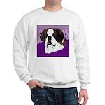St. Bernard head study Sweatshirt