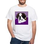 St. Bernard head study White T-Shirt