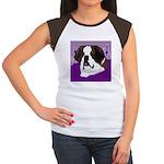 St. Bernard head study Women's Cap Sleeve T-Shirt