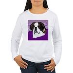 St. Bernard head study Women's Long Sleeve T-Shirt