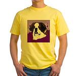 St. Bernard head study Yellow T-Shirt