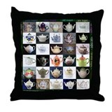 30 Teapots Throw Pillow