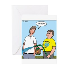 Earthday Weeding Greeting Card