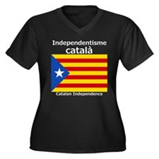 Catalan Independence Women's Plus Size V-Neck Dark