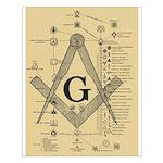 Masonic Chart Small Poster