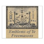 Masonic Emblems Small Poster