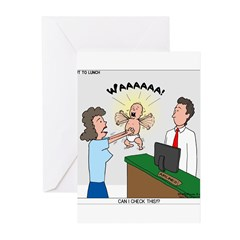 Baby Check Greeting Cards (Pk of 10)