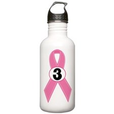 Breast Cancer 3 Year Ribbon Water Bottle