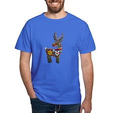 Huichol Art: 'Beaded Stag' Men's T-Shirt