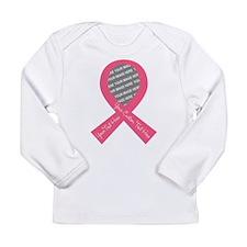 CUSTOM TEXT PHOTO Pink Ribbon Long Sleeve T-Shirt