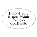 Apathetic Oval Sticker
