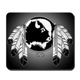 Native Art / First Nations Mousepad Spirit Buffalo