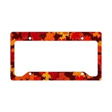 Autumn Leaves License Plate Holder