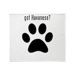 got Havanese? Throw Blanket