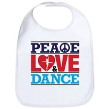 Peace Love and Dance Bib