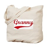 Vintage (Red) Granny Tote Bag