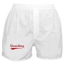 Vintage (Red) Grandma Boxer Shorts