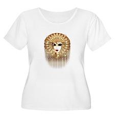 Golden Venice Carnival Mask Plus Size T-Shirt