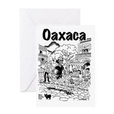 Oaxaca Running Shirt Greeting Card