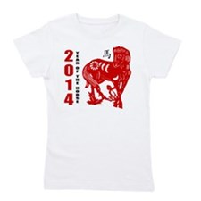 2014 Year of The Horse Paper Cut Girl's Tee