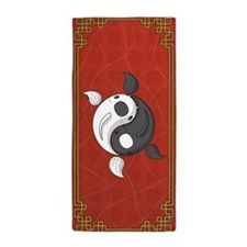 Yin and Yang Beach Towel