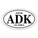 Adak Oval Decal