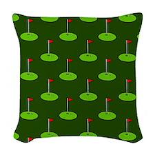 'Golf Course' Woven Throw Pillow
