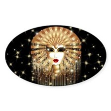 Golden Venice Carnival Mask Decal