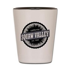 Squaw Valley Ski Resort California Black Shot Glas