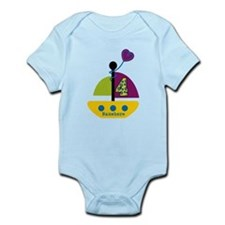 Personalized 4th Birthday Sailboat Infant Bodysuit
