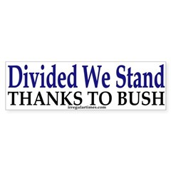 Divided We Stand (Bumper Sticker)