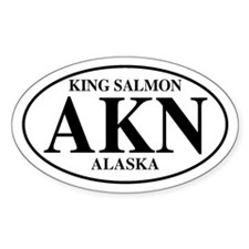 King Salmon Oval Decal