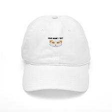 Custom Cat Face White Baseball Cap