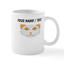 Custom Cat Face White Mugs