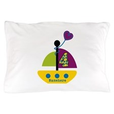 Personalized 4th Birthday Sailboat Pillow Case