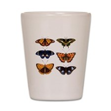 Butterfly Collage Shot Glass