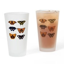 Butterfly Collage Drinking Glass