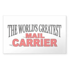 """The World's Greatest Mail Carrier"" Decal"