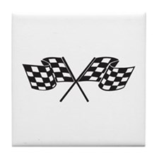 Checkered Flag, Race, Racing, Motorsports Tile Coa