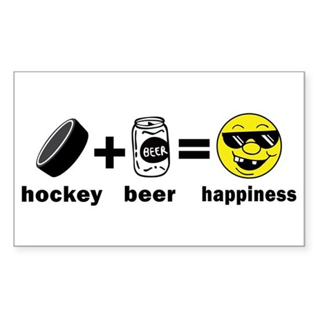 Funny Hockey Rectangle Sticker