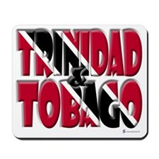 Word Art Trinidad & Tobago Mousepad