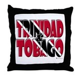 Word Art Trinidad & Tobago Throw Pillow